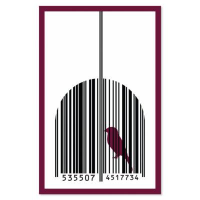 caged-bird-sings-print-red