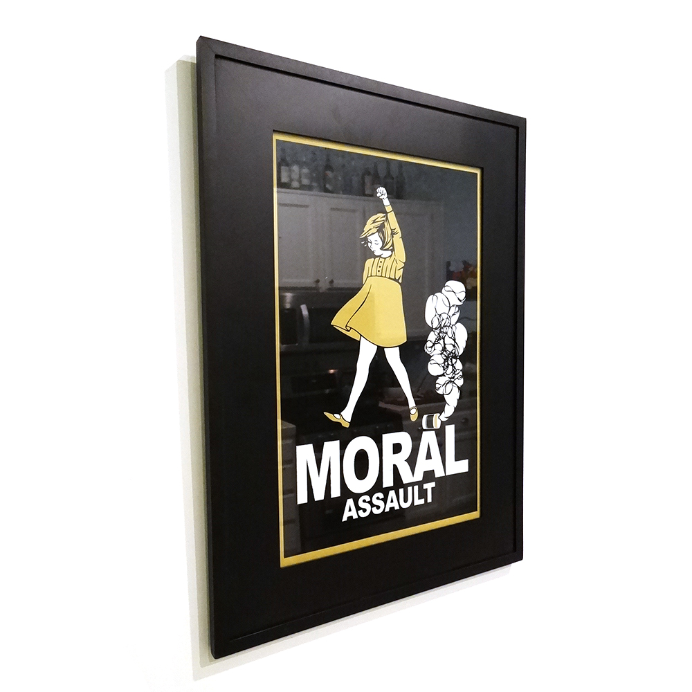 Moral assault framed 11 17 screen print recycled propaganda moral assault framed 11 17 screen print jeuxipadfo Images